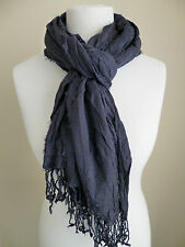 United Colors of Benetton ladies scarf navy blue crinkled womens NEW