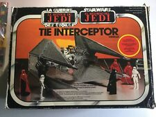 Star Wars Interceptor Tie Fighter Rotj Palitoy Boxed Mib Complete