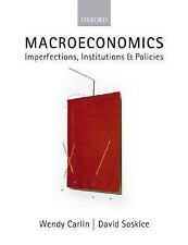 *FAST SHIP* - Macroeconomics: Imperfections, Institutions, 1E by Wendy Carlin ,