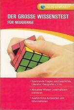 Der Grosse Wissenstest! Für Neugierige! Taschenbuch! 254 Seiten! Alle Bereiche!