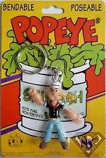 "POPEYE THE SAILOR MAN 3"" inch Poseable Bendable Key Chain Figure 1993"