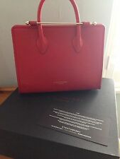 Strathberry Ruby Red Midi Tote RRP £395 - Perfect Valentines Gift.