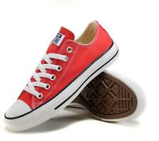 Women Lady ALL STARs Chuck Taylor Ox Low Top classic Red Canvas Sneakers US6.5