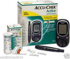 AccuChek Active Glucometer Kit (No Free Strips) + Free 2 Microlithium 2032 Cell