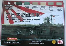 Lifecolor Acrylics LC-CS37 WW2 IJN (Japanese Navy) Warship  Paint set 2