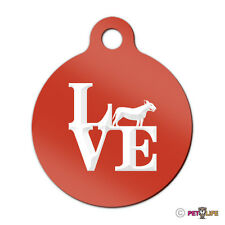 Love Bull Terrier Engraved Keychain Round Tag w/tab park bully pit bull