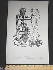 ORIGINALE IVAN WILDING Tramp con fuoco Scope CARTOON (fumetti cartolina artista)