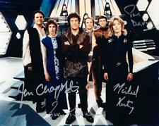 BLAKE'S 7 CAST SHOT - 5 GENUINE AUTOGRAPHS UACC (Ref:1912)