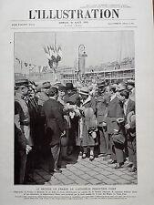 L' ILLUSTRATION 1924 N 4252 LE RETOUR EN FRANCE DE L'AVIATEUR PELLETIER DOISY