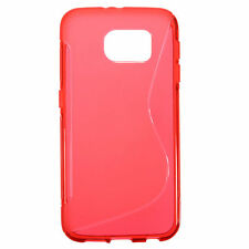 HOUSSE ETUI COQUE SILICONE GEL ROUGE SAMSUNG GALAXY S7