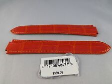 New Authentic Cartier OEM Ballon Bleu strap Orange Alligator band 19/16 19mm
