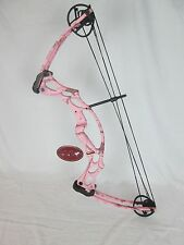 Hoyt Ruckus Right Hand Pink realtree camo youth compound bow. Archery kids