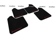 RALLY ARMOR Universal (NO MOUNTING HARDWARE) UR BLACK Mud Flaps with RED Logo