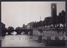 BRESCIA PALAZZOLO SULL'OGLIO 16 PONTE Cartolina FOTOGRAFICA viaggiata 1959