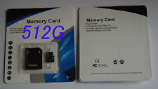 512GB microSD SDXC Flash TF Memory Card Class 10 Micro SD Free SD Adapter Retail