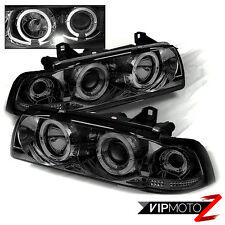 92-98 BMW E36 3-SERIES 4D 318/320/325/328/M3 Smoke Halo Projector Headlight Lamp
