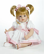 "Adora 20"" BABY PLAY DOLL HAPPY BIRTHDAY Blonde Hair Pink White Dress Sandals NEW"