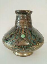 Vintage Loetz Koloman Moser Openwork Copper Clad Overlay Iridescent Glass Vase