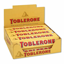 Toblerone Swiss Milk Chocolate Honey Almond Nougat Bar - 20 pack 1.76 oz Bars