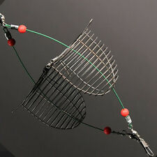 Fishing Fish Stainless Explosion Hooks Trap Cast Cage Basket Bait Lure Feeder