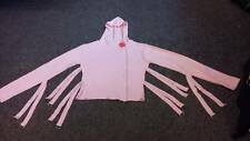 NEW Baby/Pastel Pink Straps/Straight Jacket Hoodie Goth/Emo/Halloween/Kawaii M/L