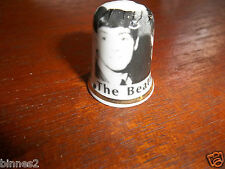 THE BEATLES BONE CHINA COLLECTORS THIMBLE NEW  MADE IN ENGLAND BLACK WHITE