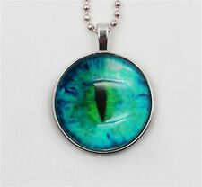 VoguePunk Style Cat Eye pupil Glow in the Dark Stainless Steel Necklace Pendant