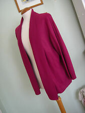 M&S VINTAGE INSPIRED FLOATY RASPBERRY CARDIGAN SZ 16 70'S/GYPSY/BOHO/WATERFALL