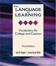 The Language of Learning: Vocabulary for College and Careers