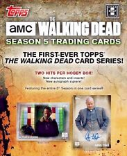 "2016 Topps The Walking Dead Season 5 Trading Cards Hobby Box ""IN STOCK"""