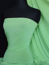 Silk touch 4 way stretch lycra fabric material soft mint Q53 SMNT