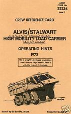 Alvis Stalwart collectible Manual High Mobility Amphibious cargo vehicle Rare