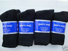 12 pairs of black Diabetic crew socks BEST QUALITY 13-15 KING SZ ( MADE IN USA )
