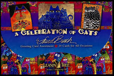 Leanin Tree Greeting Cards Cats 20 Set BOX Assortment Laurel Burch Made in USA