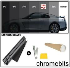 AUTO CAR OFFICE TINTING WINDOW TINT FILM KIT MEDIUM BLACK 35% 50X300CM