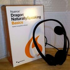 NUANCE Dragon Naturally Speaking 13 Basics w/Headset & Mic - Voice Recognition