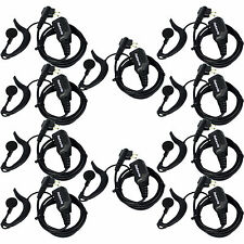 10x Retevis PTT Earpiece Headsets for Motorola GP88 CT150 XTN446 HYT TC600 Radio