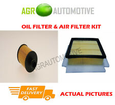 DIESEL SERVICE KIT OIL AIR FILTER FOR VAUXHALL COMBO 1.6 105 BHP 2011-