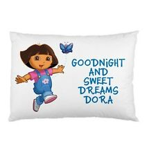 DORA THE EXPLORER Personalized childrens kids bed pillow case