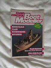 Chinese Junk full size model plans with R/C Boat Modeller Dec 1987