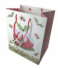 4 X  Large Luxury Christmas Gift Bag Christmas Pudding Design by Abigail Mill