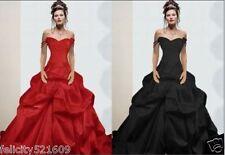 Sexy Black/red Wedding Dress Ball Gown Custom Size 4 6 8 10 12 14 16 18 20 22+