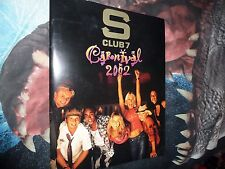 S CLUB 7. CARNIVAL TOUR PROGRAM. 2002. RARE.