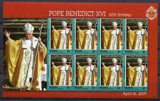 ST. VINCENT BEQUIA 2007 Papst Benedikt Pope Benedict 575 Kleinbogen ** MNH