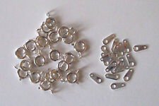20 silver plated 7mm bolt rings with tags, findings for jewellery making crafts