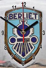 HORLOGE MURALE Logo ANCIEN BERLIET SUR TOLE BLANC -03M