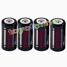 4pcs CR123A 123A CR123 GTL 1200mAh 3V Rechargeable Battery Cell