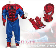 Marvel The Spider-Man 2 Muscle Enfants Garçons Halloween Costume Dress S 3-4 ans
