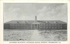 Vintage Postcard Academic Building Louisiana Normal Grambling LA Lincoln Parish