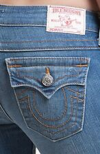 **Women's TRUE RELIGION Low Rise Thick Stitch Becky Boot Stretch Jean 27 x 34**